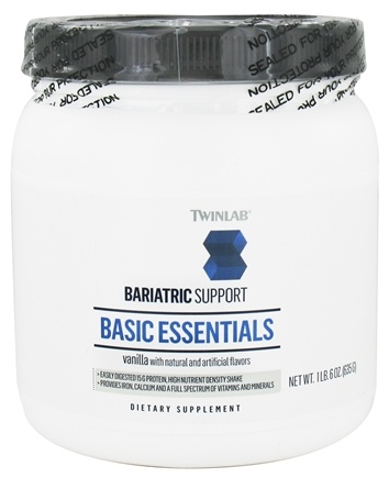 DROPPED: Twinlab - Bariatric Support Basic Essentials Vanilla - 1.6 lbs.