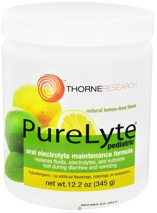 DROPPED: Thorne Research - PureLyte Pediatric Oral Electrolyte Maintenance Formula Natural Lemon Lime Flavor - 12.2 oz. CLEARANCE PRICED