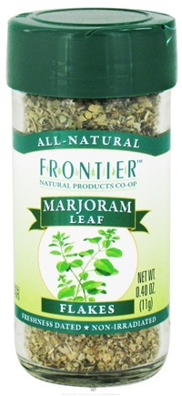 DROPPED: Frontier Natural Products - Marjoram Leaf Flakes - 0.4 oz. CLEARANCE PRICED