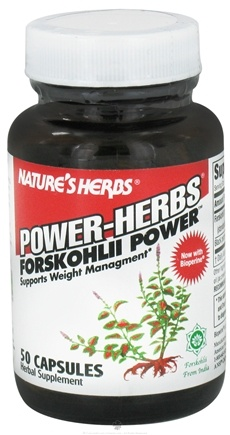 DROPPED: Nature's Herbs - Power-Herbs Forskohlii Power - 50 Capsules