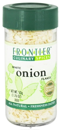 DROPPED: Frontier Natural Products - Onion Flakes - 1.76 oz. CLEARANCE PRICED