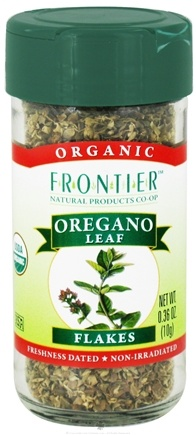 DROPPED: Frontier Natural Products - Oregano Leaf Flakes Organic - 0.36 oz. CLEARANCE PRICED