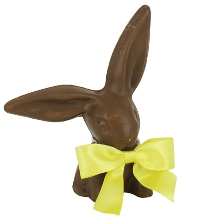 Zoom View - All Natural Solid Milk Chocolate Handmade Large Floppy Ear Bunny