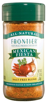 DROPPED: Frontier Natural Products - Mexican Fiesta Salt-Free Blend - 2.12 oz. CLEARANCE PRICED