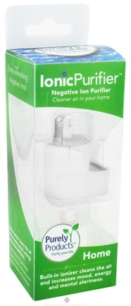 DROPPED: Purely Products - IonicLifestyle Compact Negative Ion Generator Home 110-Volt White