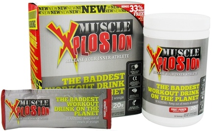 DROPPED: Rightway Nutrition - Muscle Xplosion Fruit Punch Bonus Size - 28.2 oz. CLEARANCE PRICED