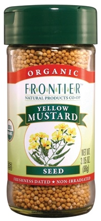 DROPPED: Frontier Natural Products - Mustard Seed Yellow Whole Organic - 3.05 oz. CLEARANCE PRICED