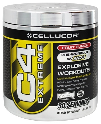 DROPPED: Cellucor - C4 Extreme Pre-Workout with NO3 Fruit Punch 30 Servings - 180 Grams