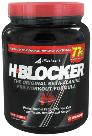 DROPPED: iSatori - H-Blocker The Original Beta-Alanine Pre-Workout Formula Fruit Punch 30 Servings - 1.36 lbs. CLEARANCE PRICED