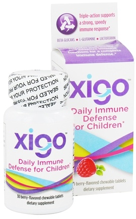 DROPPED: Xigo Health - Daily Immune Defense For Children Berry - 30 Chewable Tablets CLEARANCE PRICED