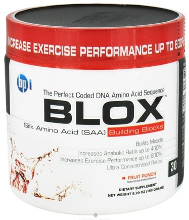 DROPPED: BPI Sports - Blox Silk Amino Acid Building Blocks - 30 Servings Fruit Punch - 150 Grams