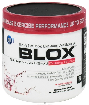 DROPPED: BPI Sports - Blox Silk Amino Acid Building Blocks - 30 Servings Watermelon - 150 Grams