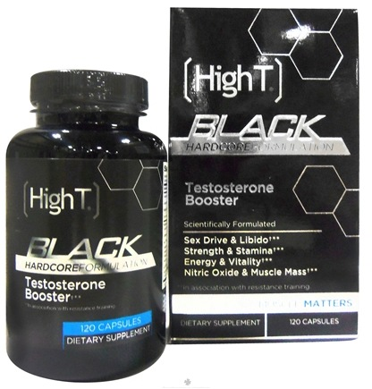 DROPPED: High T - Black All Natural Testosterone Booster - 120 Capsules