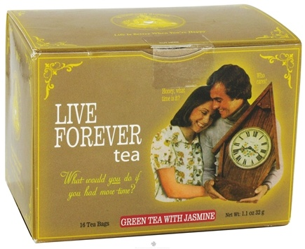 DROPPED: Blue Q - Live Forever Tea Green Tea with Jasmine - 16 Tea Bags CLEARANCE PRICED