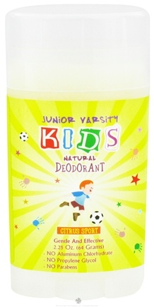 DROPPED: Varsity Naturals - Junior Kids Sport Natural Deodorant For Boys Citrus Sport - 2.25 oz. CLEARANCE PRICED