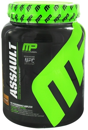 DROPPED: Muscle Pharm - Assault Pre-Performance Amplifier Orange Mango - 1.62 lbs.