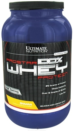 DROPPED: Ultimate Nutrition - Platinum Series ProStar 100% Whey Protein Banana - 2 lbs. CLEARANCE PRICED