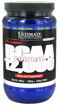 DROPPED: Ultimate Nutrition - Platinum Series 100% Crystalline BCAA 12,000 Powder Bonus Size 33% More Free! 67 Servings - 400 Grams