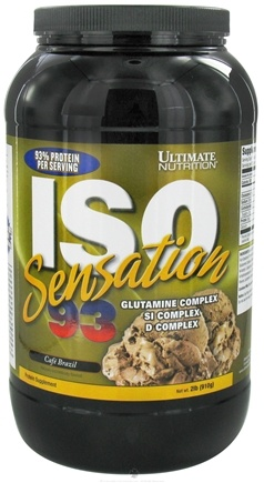 DROPPED: Ultimate Nutrition - Iso Sensation 93 Cafe Brazil - 2 lbs.