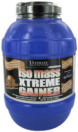 DROPPED: Ultimate Nutrition - Platinum Series Iso Mass Xtreme Gainer Chocolate Peanut Butter - 10.11 lbs. CLEARANCE PRICED