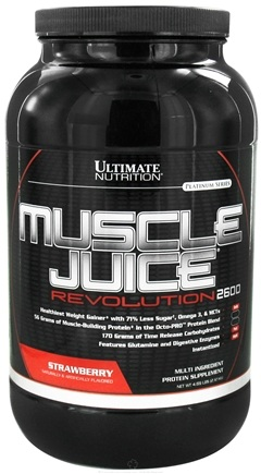 DROPPED: Ultimate Nutrition - Platinum Series Muscle Juice Revolution 2600 Strawberry - 4.69 lbs. CLEARANCE PRICED