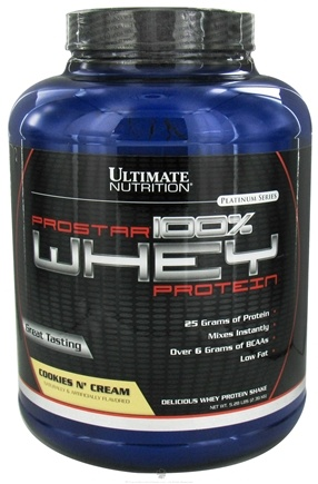 DROPPED: Ultimate Nutrition - Platinum Series ProStar 100% Whey Protein Cookies N Cream - 5.28 lbs. CLEARANCE PRICED