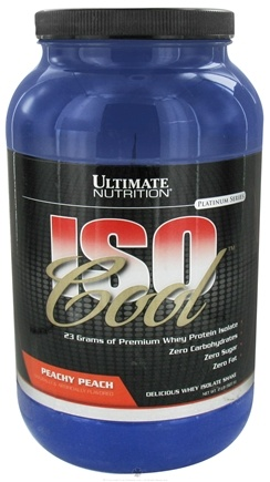 DROPPED: Ultimate Nutrition - Iso Cool Peach - 2 lbs. CLEARANCE PRICED