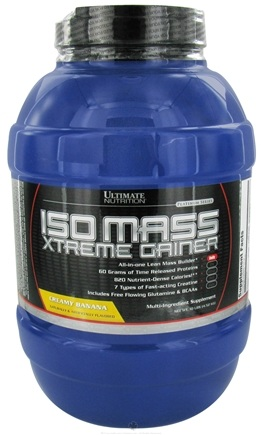 DROPPED: Ultimate Nutrition - Platinum Series Iso Mass Xtreme Gainer Creamy Banana - 10 lbs. CLEARANCE PRICED