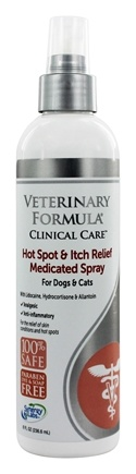 Synergy Labs - Veterinary Formula Clinical Care Medicated Spray Hot Spot & Itch Relief - 8 oz.