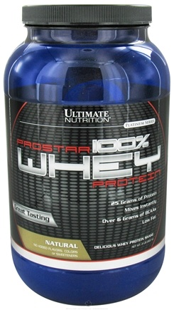 DROPPED: Ultimate Nutrition - Platinum Series ProStar 100% Whey Protein Natural - 2 lbs. CLEARANCE PRICED