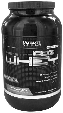 DROPPED: Ultimate Nutrition - Platinum Series ProStar 100% Whey Protein Strawberry - 2 lbs. CLEARANCE PRICED