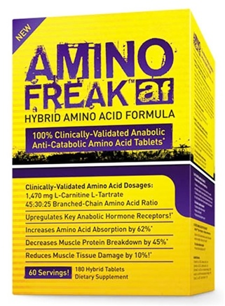 DROPPED: PharmaFreak Technologies - Amino Freak Hybrid Amino Acid Formula - 180 Tablets CLEARANCE PRICED