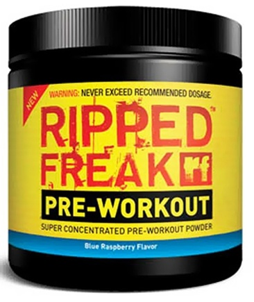 DROPPED: PharmaFreak Technologies - Ripped Freak Pre-Workout Super Concentrated Powder - 45 Servings Blue Raspberry - 200 Grams CLEARANCE PRICED