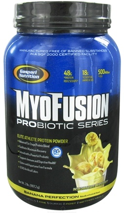 DROPPED: Gaspari Nutrition - MyoFusion Probiotic Series Protein Banana Perfection - 2 lbs. CLEARANCE PRICED