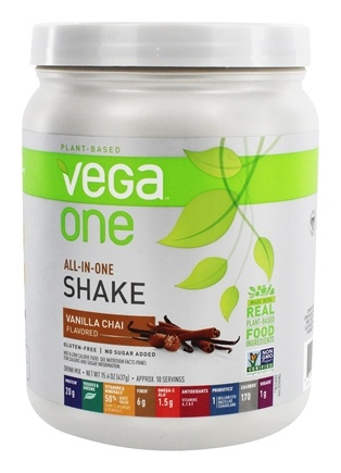 Vega - Vega One All-In-One Nutritional Shake Vanilla Chai - 15.4 oz.