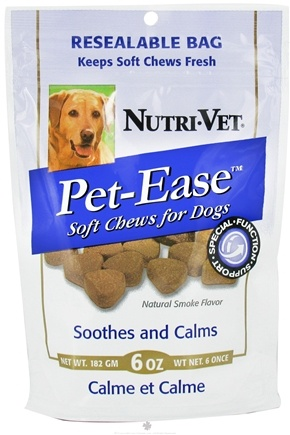 DROPPED: Nutri-Vet - Pet-Ease For Dogs Soft Chews Natural Smoke Flavor - 6 oz. CLEARANCE PRICED