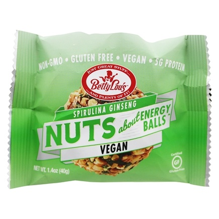 Betty Lou's - Nuts About Spirulina Ginseng Energy Balls - 1.4 oz.