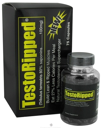 DROPPED: Health Science Nutrition - TestoRipped - 75 Capsules CLEARANCE PRICED