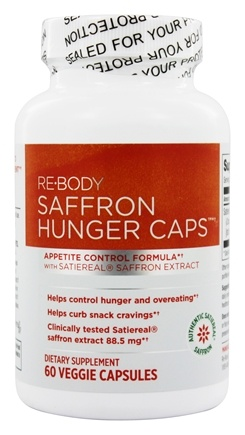 ReBody - Hunger Caps Appetite Control Formula with Satiereal Saffron Extract - 60 Vegetarian Capsules