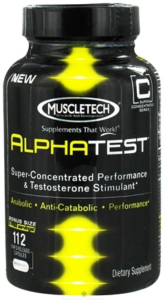 DROPPED: Muscletech Products - Alpha Test Rapid-Release Super-Concentrated Performance & Testosterone Stimulant - 112 Capsules CLEARANCE PRICED
