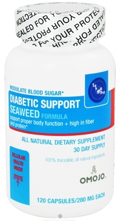 DROPPED: Omojo Health USA - Diabetic Support Seaweed Formula 280 mg. - 120 Capsules CLEARANCE PRICED