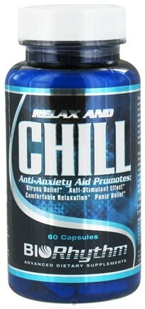 DROPPED: BioRhythm - Relax and Chill Anti-Anxiety Aid - 60 Capsules CLEARANCE PRICED