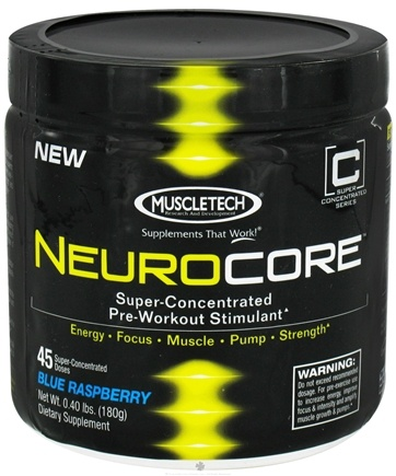 DROPPED: Muscletech Products - NeuroCore Super-Concentrated Pre-Workout Stimulant Blue Raspberry 45 Servings - 0.4 lbs.