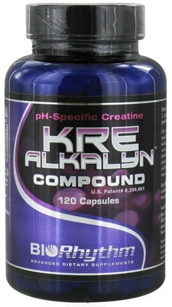 DROPPED: BioRhythm - Kre-Alkalyn Compound pH-Specific Creatine - 120 Capsules CLEARANCE PRICED