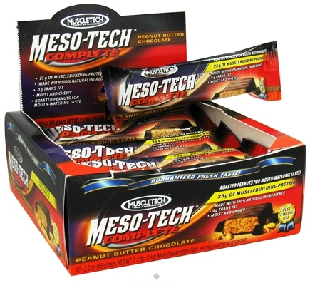 DROPPED: Muscletech Products - Meso-Tech Complete Meal Replacement Bar Peanut Butter Chocolate - 3 oz. CLEARANCE PRICED