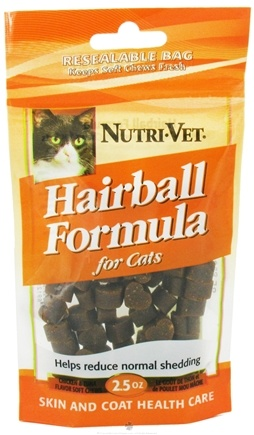 DROPPED: Nutri-Vet - Hairball Formula Soft Chews For Cats Chicken And Tuna - 2.5 oz.