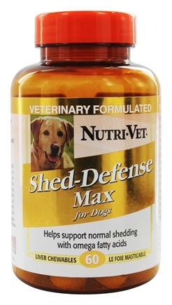 DROPPED: Nutri-Vet - Shed-Defense Max For Dogs Liver - 60 Chewables