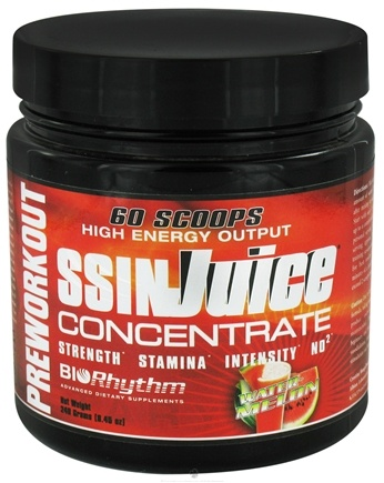 DROPPED: BioRhythm - SSIN Juice Concentrate High Energy Output Preworkout Powder Watermelon - 240 Grams CLEARANCE PRICED