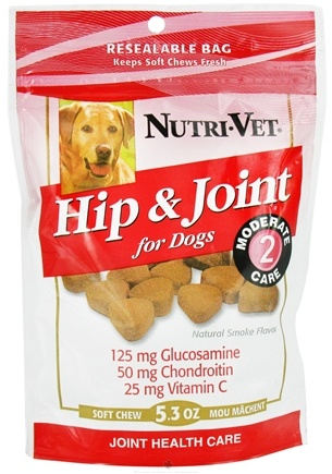 DROPPED: Nutri-Vet - Hip & Joint Level 2 Soft Chews For Dogs Natural Smoke Flavor - 5.3 oz.