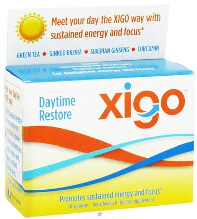 DROPPED: Xigo Health - Daytime Restore Caffeine Free - 30 Vegetarian Capsules CLEARANCE PRICED